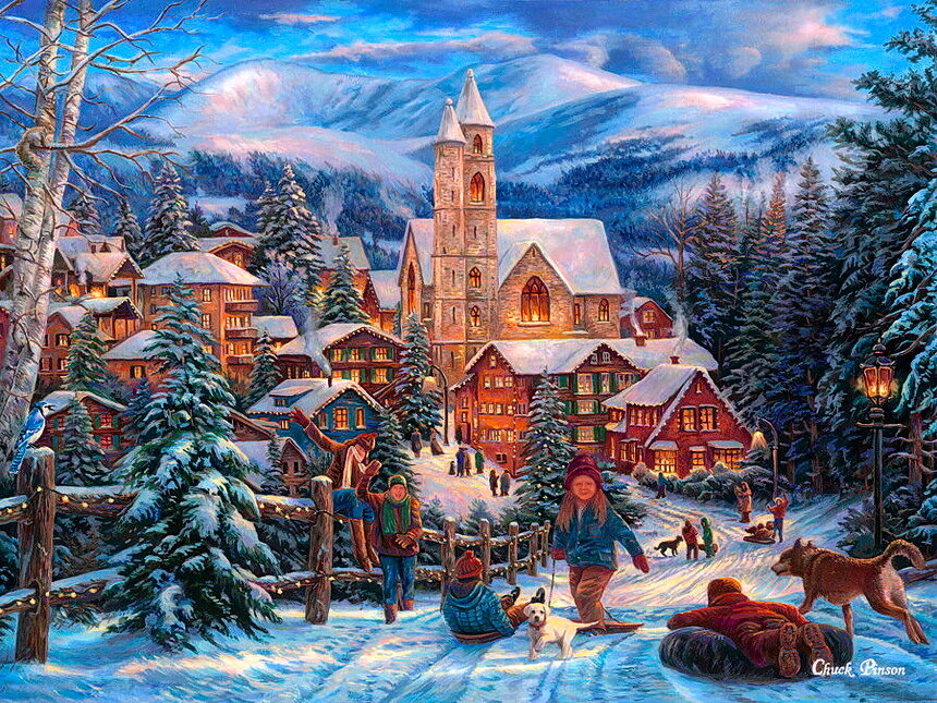 Зимние сюжеты в картинках