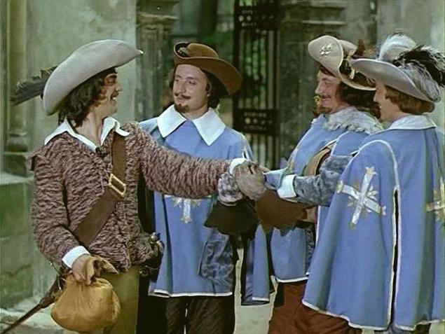 Три мушкетёра побеждали почти всех на своём пути не потому, что автор был далёк от реализма, а из-за того, что других в мушкетёры короля не брали.