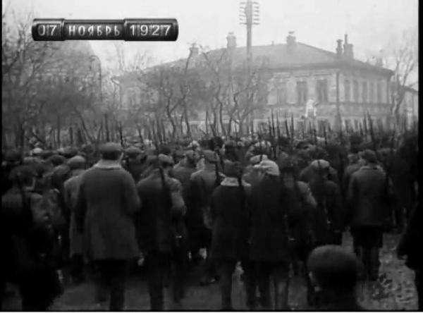 Колонна демонстрантов 7 ноября 1927 года